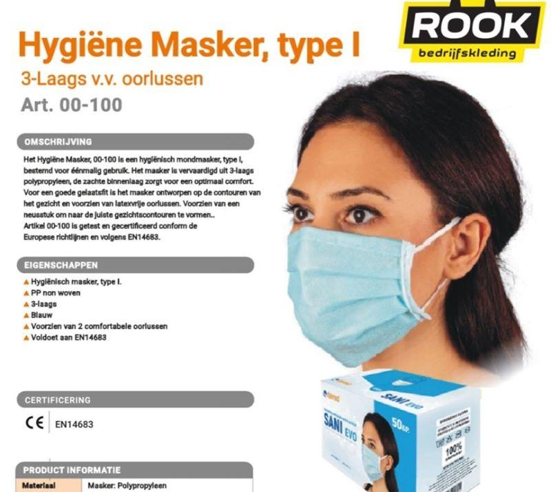 FFP1 Maskers; nu verkrijgbaar